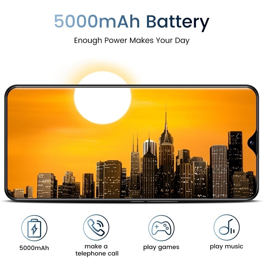 2020New Hot Sale Smartphone 6.8inch 2K Display 4G5G MTK 6889 Large Screen 10 Core 2 Sim cards support TF card Large Screen Large Battery SMARTPHONE