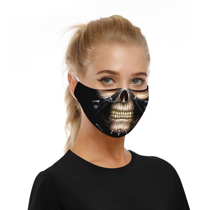 Fashion 6 Types Adjustable Printed Protective Mask with Filter Chip Dust-proof PM2.5 Haze Adult Child Mask