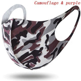 5 Colors Camouflage Breathable Dustproof Face Mask Anti-Dust Haze Pm2.5 Protection Face Masks for Kids Women Men