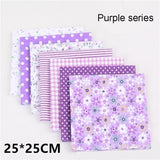 Sewing Cotton Fabric Patchwork Fabric Bundles Fabric for DIY Handmade Bags Purse Pillowcase Bedding Quilting 7Pcs/set 25CMX25CM