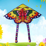 Spring Garden Interesting Game Gift For Children With Handle Line Long Tail Kite Outdoor Sports Butterfly Interactive Toys Flying Toys Butterfly Kite Flying Bird Kite Kids Toys