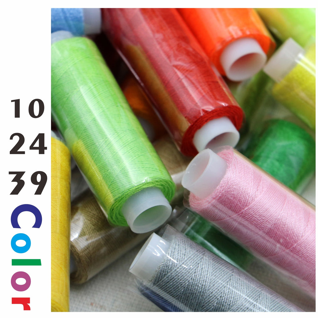 10/24/39 Color Multicolor Polyester Sewing Thread Spools DIY Sewing Thread Kit for Hand Sewing Machine Sewing Thread
