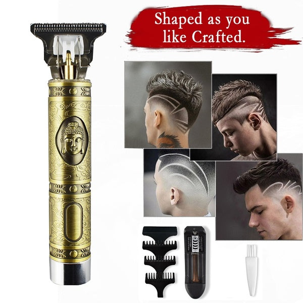 Hair Clipper Beard Trimmer Electric Pro Li Liner Grooming Cordless Cutting T-Blade Trimmer Set