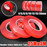 1 Roll 3m/25m Double Sided Adhesive Tape Acrylic No Traces Sticker