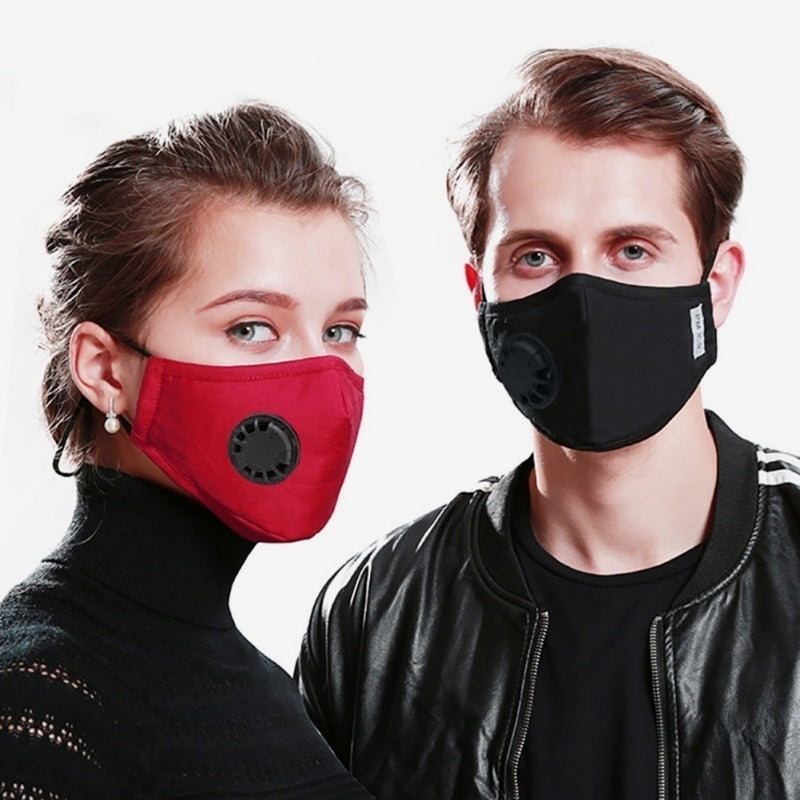 Newest Reusable PM2.5 Anti-dust Mask Activated Carbon Filter Respirator Face Mask Mouth Mask With Filters