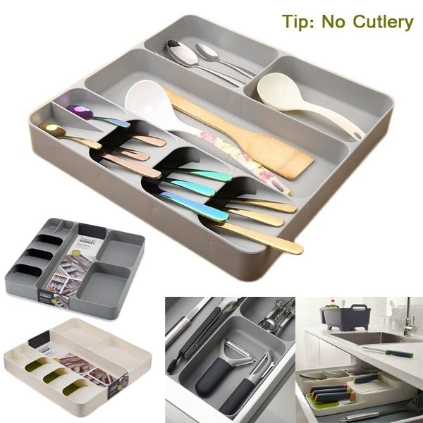 4 Style 2 Color Kitchen Storage Box Drawer Cutlery Compartment (No Cutlery)