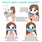 1/5/10 PCS Mouth Face Mask Anti Dust Pollution Cotton Mask Washable Reusable Dustproof Mask for For Men Women Kids