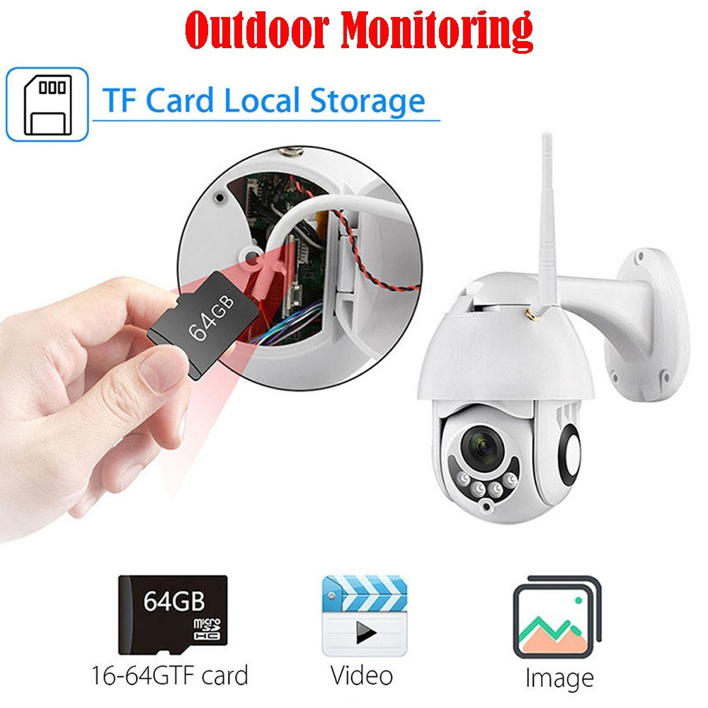 New IP Camera Outdoor Security Rainproof Surveillance NetCam HD 1080P IP Camara Exterior TF Card Wireless Speed Dome CCTV IR Camera Monitor
