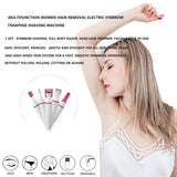 5 in 1 Multifunction Women Hair Removal Electric Shaping Female Shaving Machine Mini Shaver Trimmer Razor for Eyebrow Underarm