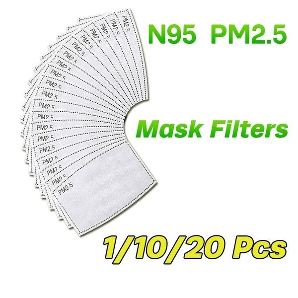 10/20/30/40/50 Pcs PM2.5 Activated Carbon Filter Replaceable Anti Haze Filter Paper for Mask