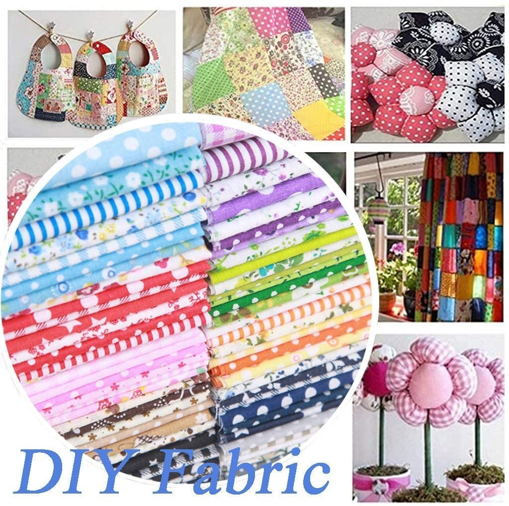 7PCS 50 50cm Cotton Craft Fabric Bundle Patchwork Squares Quilting Sewing Patchwork Different Pattern Cloths DIY Scrapbooking Artcraft