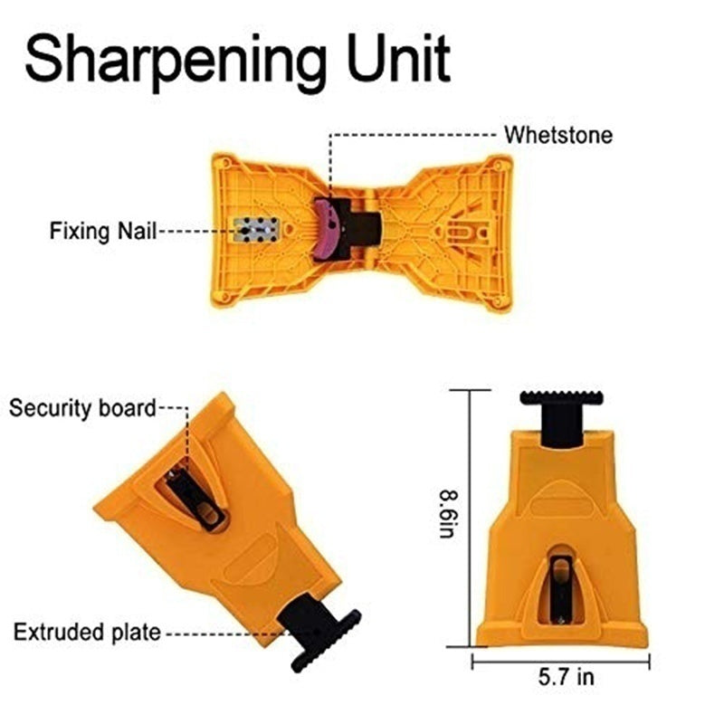 Woodworking Special Chainsaw Teeth Sharpener Bar-Mount Fast Grinding Chainsaw Chain Sharpener Sharpening Stone Sharpening Frame Grinding Chain Tool