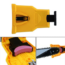 Load image into Gallery viewer, Woodworking Special Chainsaw Teeth Sharpener Bar-Mount Fast Grinding Chainsaw Chain Sharpener Sharpening Stone Sharpening Frame Grinding Chain Tool