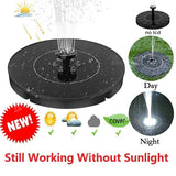 2020 New Upgraded Solar Automatic Fountain Pump with 4 Different Spray Pattern Heads,Water Fountain Floating Pump for Bird Bath,Fish Tank,Pond and Garden(with 6 LED Lights/no light)