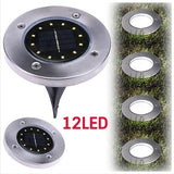4/8/12 LED Solar Power Buried Light Ground Path Way Garden Decking Light