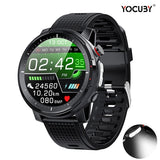 LED Light Men Smart Watch IP68 Waterproof Fitness Tracker ECG Heart Rate Blood Pressure Monitor Bluetooth Music Wristwatch Wristband Smart Band Outdoor Sport Smartwatch for IPhone Android