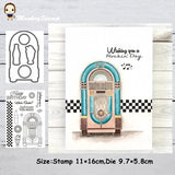 Magic Gate Metal Cutting Dies and Stamps Stencil for DIY Scrapbooking Photo Album Embossing Decorative DIY Paper Card