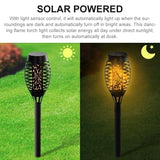 12 LED Waterproof Flickering Flame Solar Torch Light Garden Lamp Outdoor Landscape Decoration Garden Lawn Light 1/2/4/6 Pcs