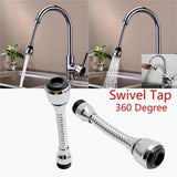 Tool Sink Mixer Kitchen Chromed Swivel Tap Faucet Nozzle Sprayer 360 Degree Aerator