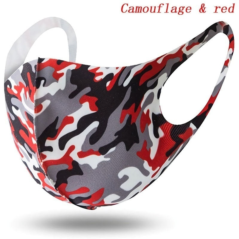 2PCS/set Colorful Camouflage Breathable Dustproof Face Mask Anti-Dust Haze Pm2.5 Protection Face Masks for Kids Women Men
