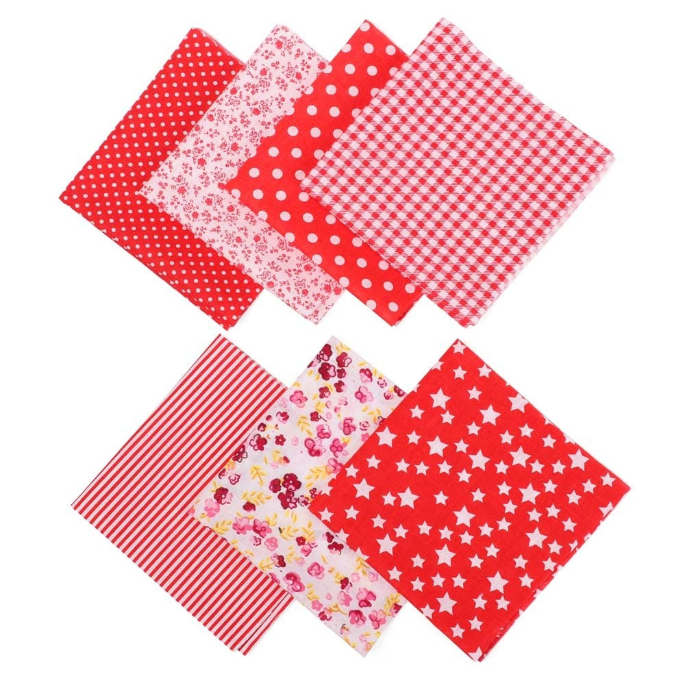 7Pcs 25x25cm Doll Clothes Accessories Needlework Handmade Sewing for Patchwork Printed Cotton Fabric Cloth Quilting Fabrics