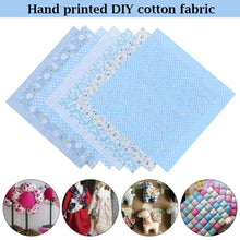 Load image into Gallery viewer, 7Pcs 25x25cm Doll Clothes Accessories Needlework Handmade Sewing for Patchwork Printed Cotton Fabric Cloth Quilting Fabrics