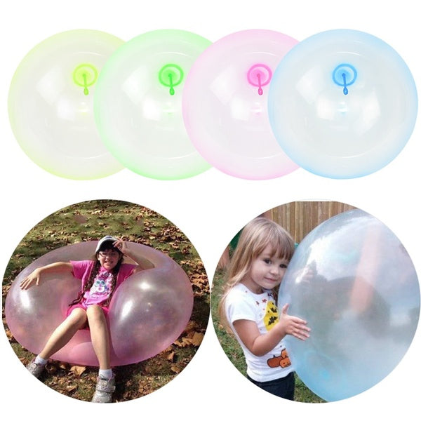 1pc 40/50/70cm Children Outdoor Soft Air Water Filled Bubble Ball Blow Up Balloon Toy Fun Party Game Summer Gift for Kids Inflatable Gift