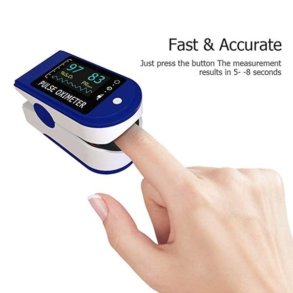Digital Fingertip Pulse Oximeter LED Display Blood Oxygen Sensor Saturation SpO2 Monitor Measurement Meter Portable