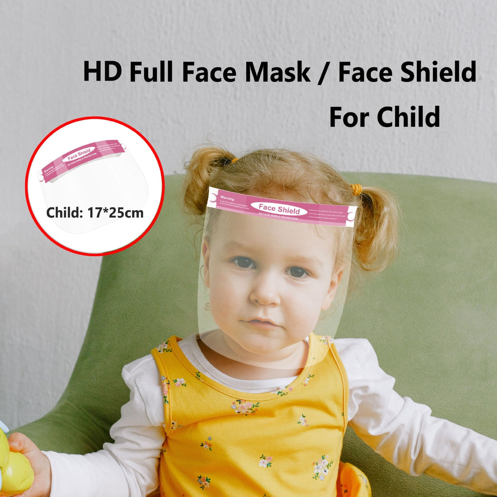 1/3/5 PCS Adjustable Kid Face Shield Protection Dust-proof Full Face Covering Visor Mask Splash Guard Safety Reusable for Children Health Care Tools