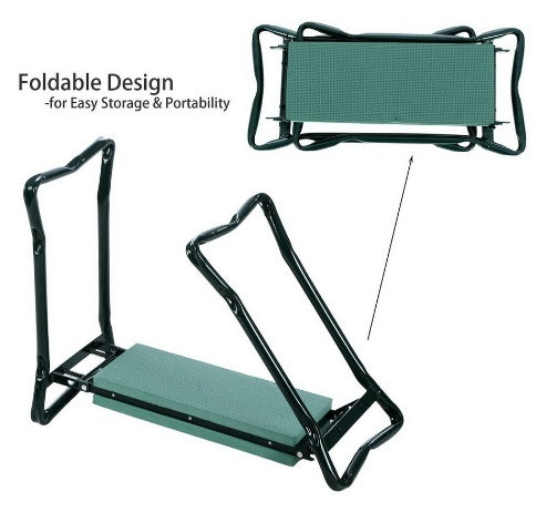 Homdox Folding Fishing Chairs Home Garden Seat Kneeler Kneeling Pad Rest Outdoor Lawn Beach Chair With Tool Pouch