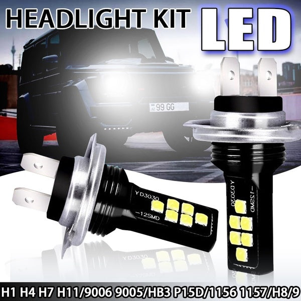 6000K 1 / 2pcs car headlights 4 side LED bulb fog lights 360 ¡ã LED super high brightness Cree fog lights car bulbs H4 H7 H8 H11 H13 9005 9006 HB3 HB4 kit car fog lights