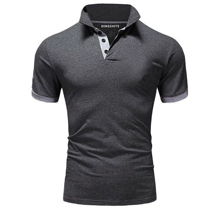 Men's Summer New Short-sleeved Lapel T-shirt, Plus Size Fashion Casual Business Social Polo Shirt.