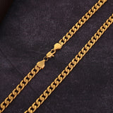 18-30 Inches, Fashionable Luxury Exaggerated, Men and Women Fashion Exquisite 18k Gold, 6MM Side Necklace