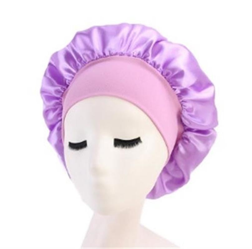 Satin Bonnet Hair Caps Double Layer Adjust Sleep Night Cap Head Cover Hat for Curly Springy Hair Styling Accessories