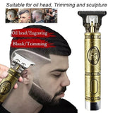 New Upgrade Professional USB Electric Charging Haircut Machine Hair Clipper Low Noise Trimmer Powerful Professional Tool For Barber Shop & Home