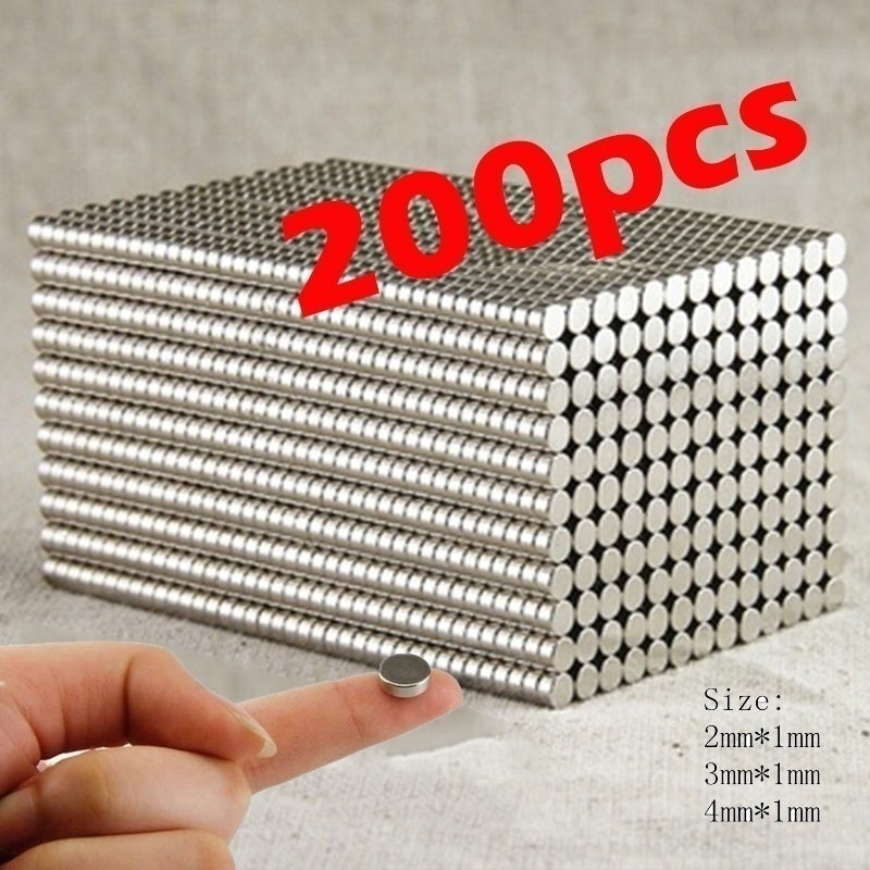 100/200pcs Nd-Fe-B Super Lodestone Strong Round N35 Magnets Rare-Earth Permanent N35 Disc Fridge Craft 4MM*3MM*2MM