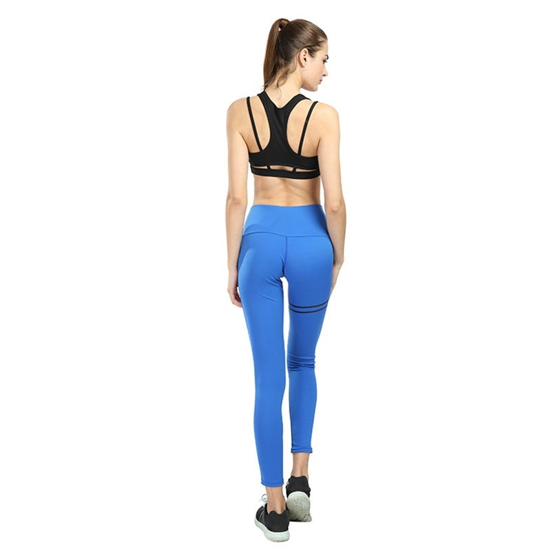 Ladies sexy yoga tights high waist yoga pants ladies fashion sports leggings running yoga fitness quick-drying sports tights 4 colors ladies bodybuilding pants S-XL
