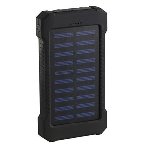 2021 Style Best Gift !!! Waterproof Solar Power Bank 20000000mAh With 2USB Outputs,LED Flashlight External Battery Backup For All Type Phones