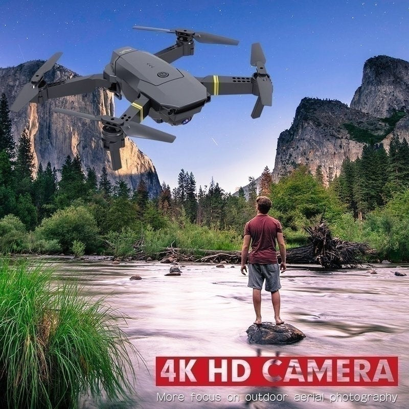 Limited Edition Aerial Drone Professional HD 4K/720P/1080P/4069P 4K 90¡ã Adjustable Camera Folding Drone Wireless Wifi 360 Degree Roll FPV Selfie RC Drone Quadcopters RTF with Real Time Video with 1/2/3 Batteries Free Gift Drone Bag