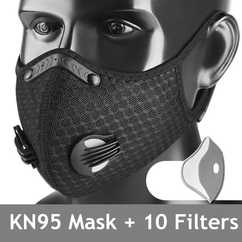 KN95 Antiviral Anti Dust Face Mask With Filter Activated Carbon