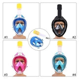 New Version Upgrade Foldable Anti Fog Fully Dry Diving Mask Swimming Detachable Dry Snorkeling Full Face Mask Set Scuba Diving Mask