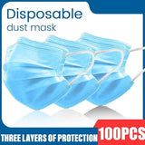 1-100pcs Disposable Protective Masks Non-Woven Face Mask Anti-Dust 3 Layers Filter Dustproof Earloop Mouth Masks