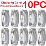 1/3/5/10-PACK USB Data Charging Charger Cables Cords For Apple 11 XS XSMAS XR 5 S 6 7 8 X Plus