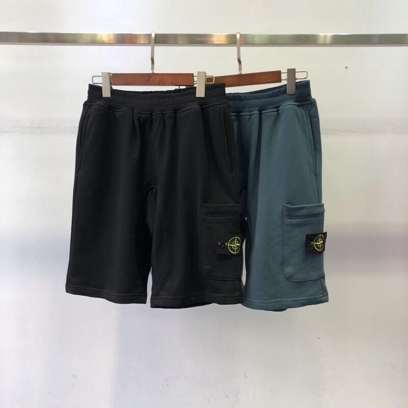Stone Island Men Patched Pocket Shorts Hiphop Streetwear Men Casual Shorts Trousers