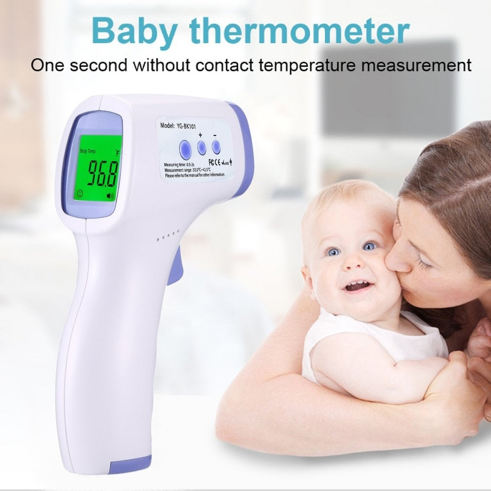 Newst LCD Digital Forehead Ear Fever Household Portable Thermometer for Family Care Non-contact IR Infrared Thermometer Forehead Body Temperature Meter