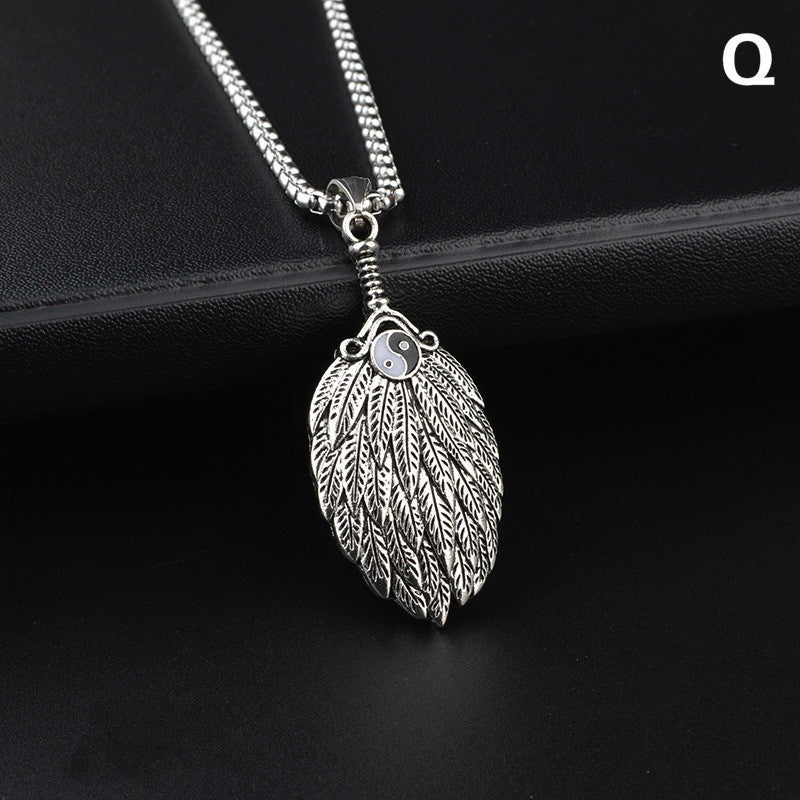 2020 Fashion Jewelry Men's Necklace Titanium Steel Pendant Personality Hip-hop Simple Jewelry