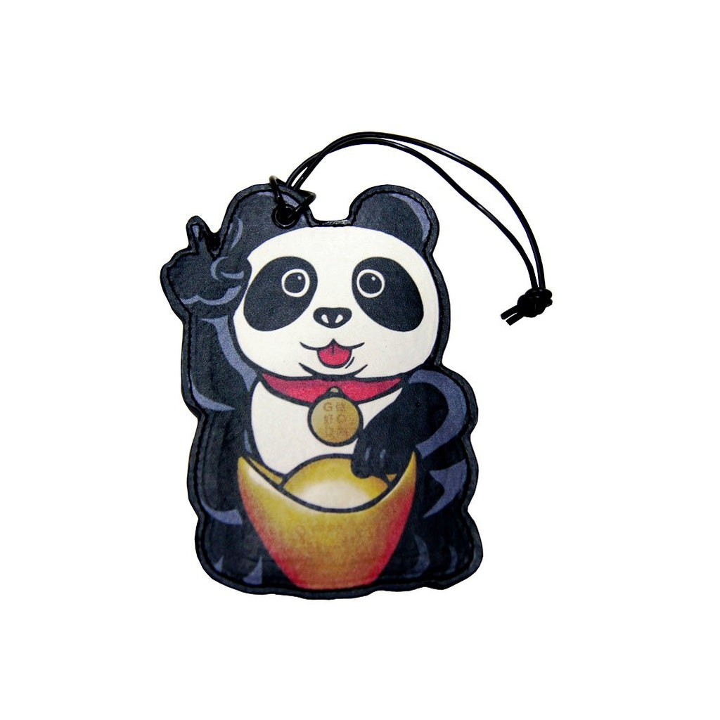 'Lucky Panda' luggage tag
