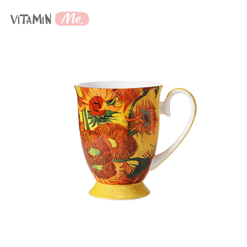 VitaminME Bone China Cup -Sunflower