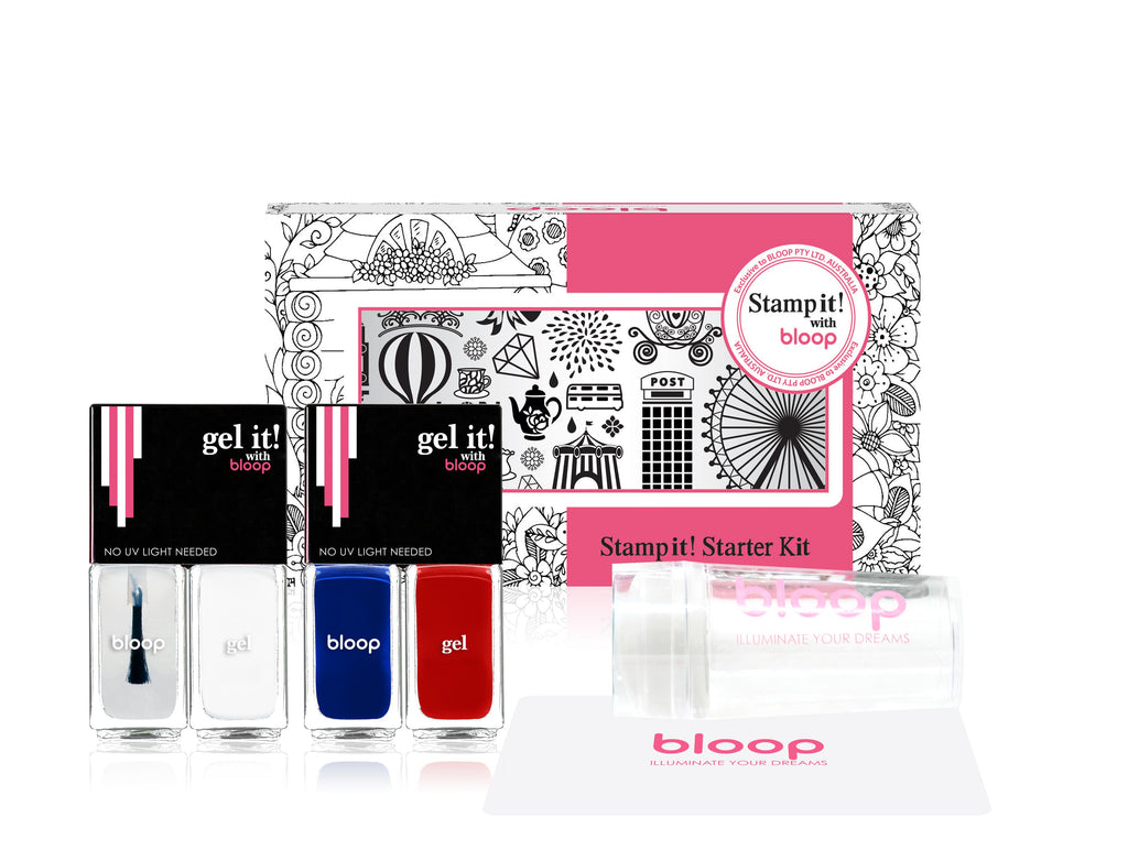Bloop Nail Stamp Kit -London set