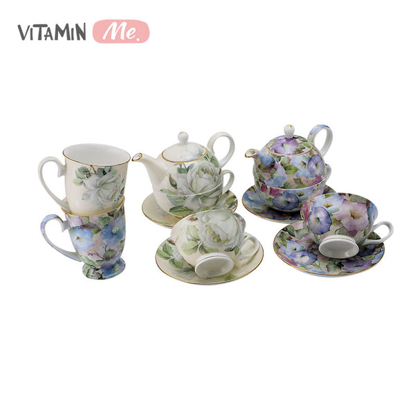VitaminME Bone China Tea Set - Lt.blue